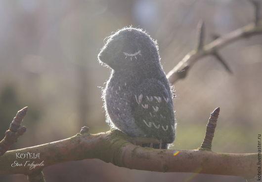 """Броши ручной работы. Ярмарка Мастеров - ручная работа. Купить Брошь """"Птица перелётная"""". Handmade. Серый, брошь из шерсти"""