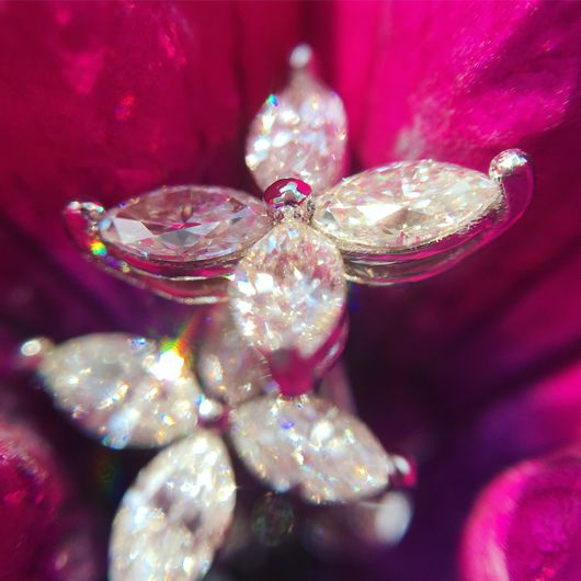 Серьги ручной работы. Ярмарка Мастеров - ручная работа. Купить Серьги-гвоздики с бриллиантами формы маркиз - 1,14 карата. Handmade.