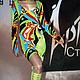 Платья ручной работы. Ярмарка Мастеров - ручная работа. Купить Платье трикотажное Слишком ярко-надо брать!. Handmade. Разноцветный