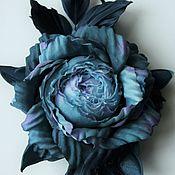 """Украшения ручной работы. Ярмарка Мастеров - ручная работа Брошь из шелка """"Marina"""". Цветы из шелка, брошь-роза из шелка. Handmade."""