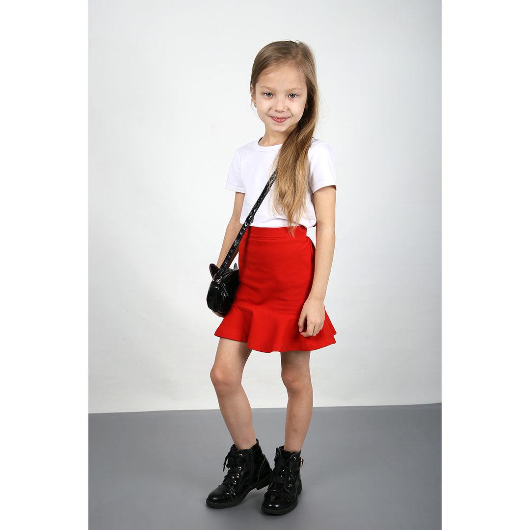Одежда для девочек, ручной работы. Ярмарка Мастеров - ручная работа. Купить Красная юбка с воланом. Handmade. Детская одежда