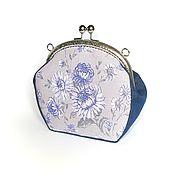 Сумки и аксессуары handmade. Livemaster - original item Cosmetic bag with clasp from denim and cotton