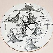 """Для дома и интерьера ручной работы. Ярмарка Мастеров - ручная работа Часы """"История одного дня Дракончика"""". Handmade."""