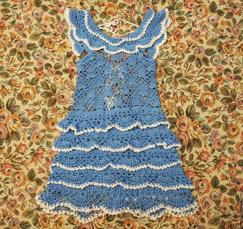 Детское вязаное платье таобао