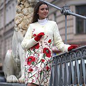 Одежда ручной работы. Ярмарка Мастеров - ручная работа Пальто осеннее Маки. Handmade.