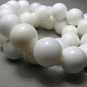Материалы для творчества handmade. Livemaster - original item White agate beads 10mm smooth ball. Handmade.