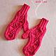 Set knitted Malinki, scarf - snud, bandage and mittens. Headwear Sets. (Milena-Pobedova) (Milena-Pobedova). My Livemaster. Фото №6