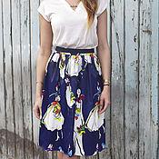 Одежда ручной работы. Ярмарка Мастеров - ручная работа SALE! -40%! Нарядная атласная юбка. Handmade.