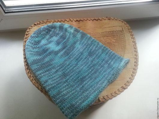 Шапки и шарфы ручной работы. Ярмарка Мастеров - ручная работа. Купить Меланжевая шапочка-бини. Handmade. Комбинированный, шапка детская