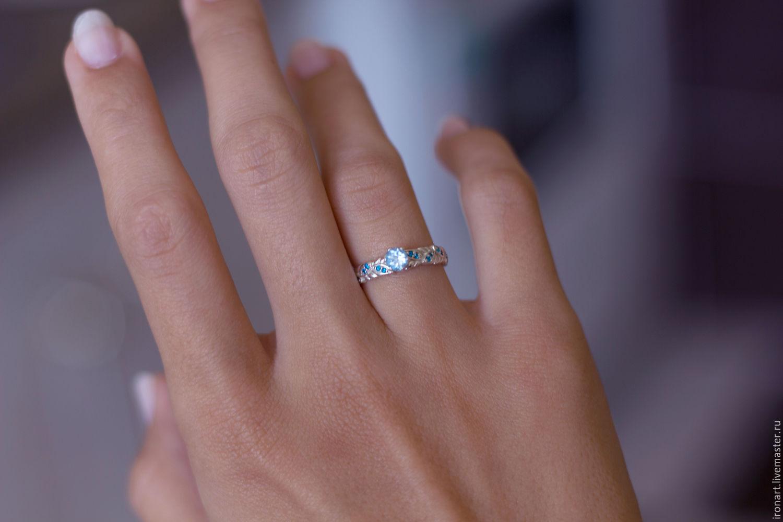Свадебные украшения ручной работы. Ярмарка Мастеров - ручная работа. Купить  Помолвочное кольцо Топаз из ... 436b7f8f5b1