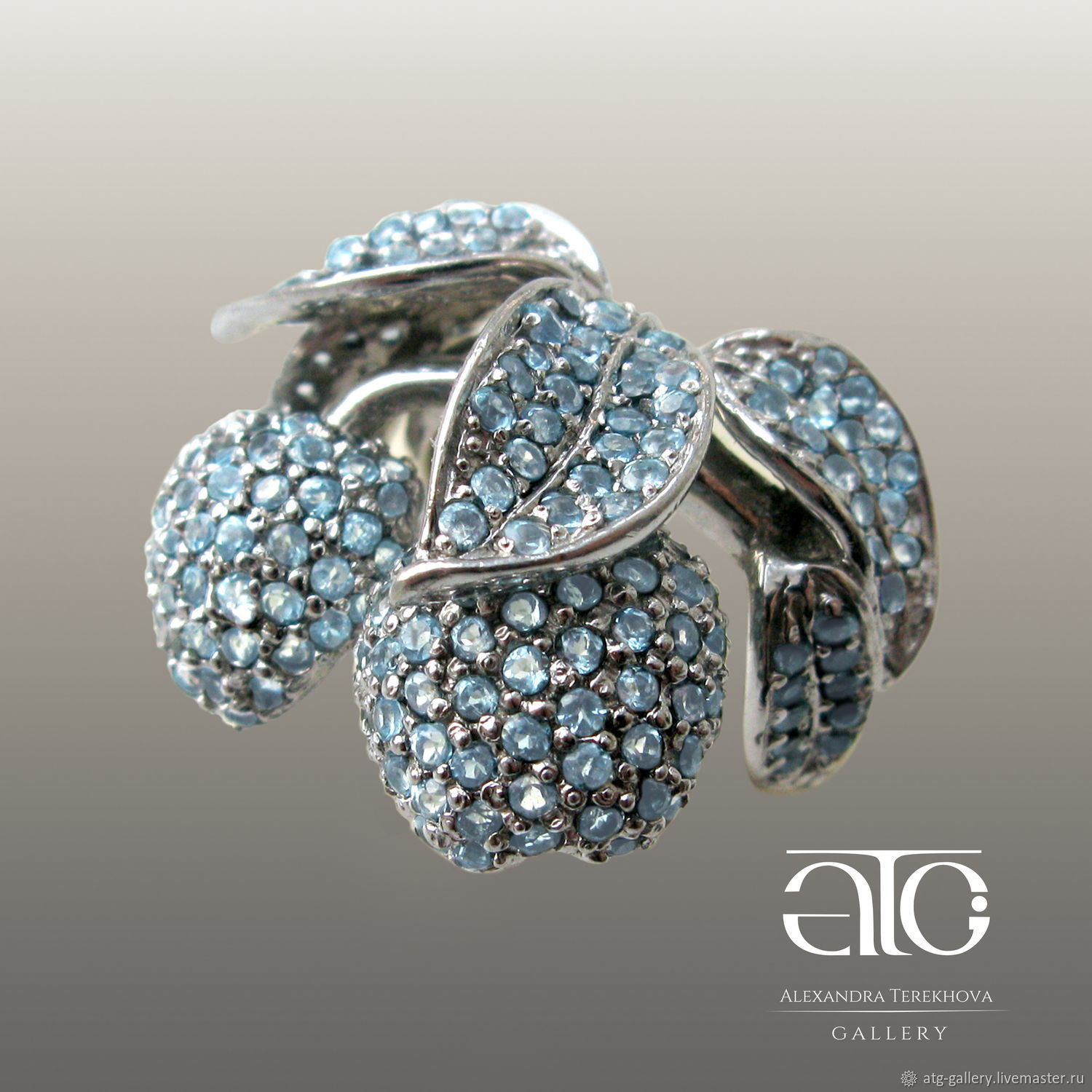 RING WITH BLUE TOPAZ 925 sterling silver – shop online on