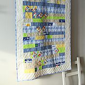 """Покрывала ручной работы. Ярмарка Мастеров - ручная работа Детское покрывало """"Полоски"""" пэчворк, квилтинг 90х160. Handmade."""