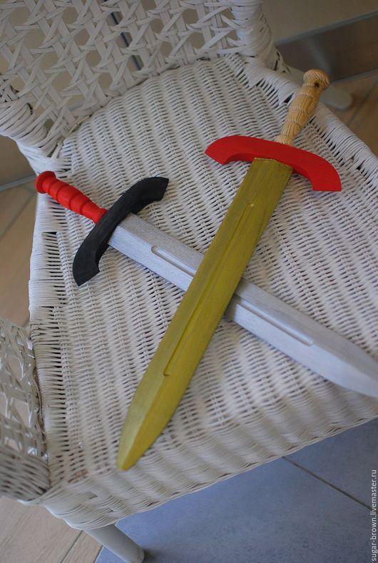 Развивающие игрушки ручной работы. Ярмарка Мастеров - ручная работа. Купить Меч деревянный. Handmade. Меч, щит и меч