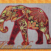Материалы для творчества handmade. Livemaster - original item Design for machine embroidery. Elephant (applique). Handmade.