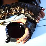 Аксессуары handmade. Livemaster - original item Leather mitts