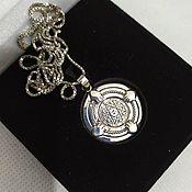 Фен-шуй и эзотерика handmade. Livemaster - original item Mascots: Silver seal of Solomon.- Protection. With chain. Handmade.