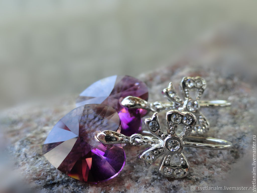 Earrings ROMANTIQUE - Swarovski crystals, Earrings, Kiev,  Фото №1