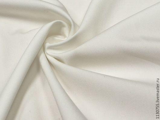 Шитье ручной работы. Ярмарка Мастеров - ручная работа. Купить ткань костюмная вискоза стрейч белая. Handmade. Белый