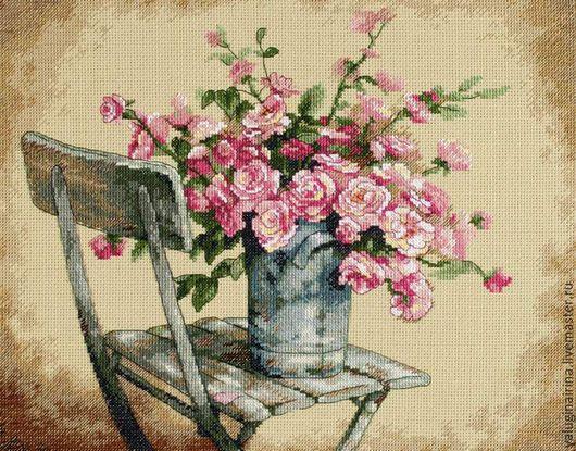 Розы на стуле. Demensions. Размер 36х28. Цена 10000 р.