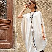 Одежда ручной работы. Ярмарка Мастеров - ручная работа Туника -платье Sexy Summer Ivory. Handmade.