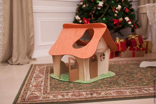 """Кукольный дом ручной работы. Ярмарка Мастеров - ручная работа. Купить Кукольный домик """"Сказка"""". Handmade. Комбинированный, деревянный домик"""