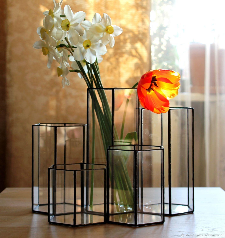 Набор из пяти ваз. Геометрические вазы Loft, Вазы, Санкт-Петербург,  Фото №1