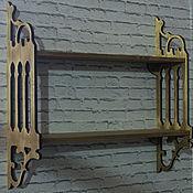 Для дома и интерьера ручной работы. Ярмарка Мастеров - ручная работа Полка резная. Handmade.
