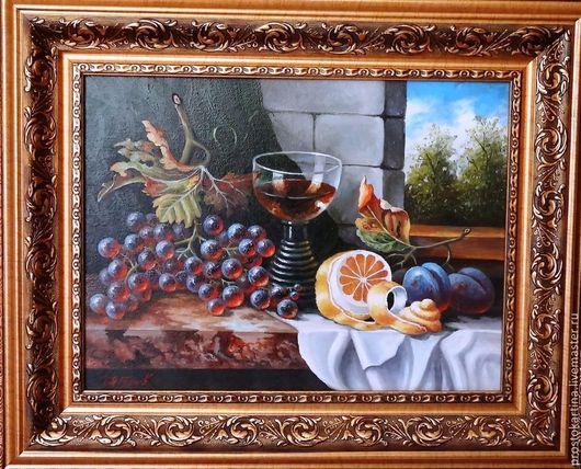 Натюрморт ручной работы. Ярмарка Мастеров - ручная работа. Купить Натюрморт с апельсином. Handmade. Картина, картина для интерьера, Картины и панно