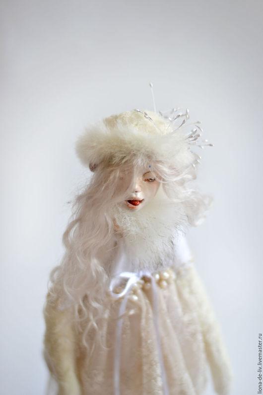 """Коллекционные куклы ручной работы. Ярмарка Мастеров - ручная работа. Купить Тедди Долл """"Сахарная Вьюга"""". Handmade. Белый, овечка"""