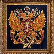 Подарки к праздникам handmade. Livemaster - original item The emblem of the Russian post from amber. Handmade.