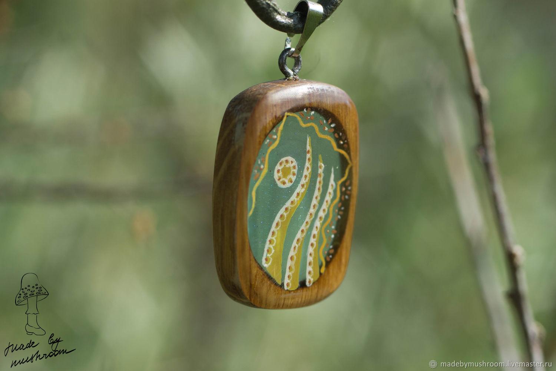 Pendant made of wood and resin, Pendants, Bratsk,  Фото №1