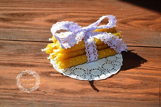 Свечи ручной работы. Ярмарка Мастеров - ручная работа. Купить Свечи для торта из вощины. Handmade. Волшебная свеча, свеча для торта