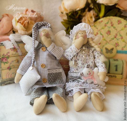 Куклы Тильды ручной работы. Ярмарка Мастеров - ручная работа. Купить Ангелы добрых снов в стиле Тильда. Handmade. Тильда