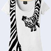 """Одежда ручной работы. Ярмарка Мастеров - ручная работа Женская футболка """"Жираф"""". Handmade."""