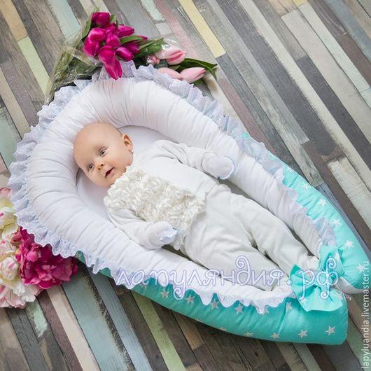Для новорожденных, ручной работы. Ярмарка Мастеров - ручная работа. Купить Гнездышко кокон для новорожденного. Handmade. Кокон для малыша
