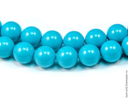 Для украшений ручной работы. Ярмарка Мастеров - ручная работа. Купить 8мм Turquoise Жемчуг Сваровски Swarovski Perl 10 шт. Handmade.