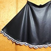 """Одежда ручной работы. Ярмарка Мастеров - ручная работа юбка """"а-ля кожа"""". Handmade."""