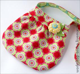 Детские аксессуары ручной работы. Ярмарка Мастеров - ручная работа. Купить Детская двухсторонняя сумочка с двумя брошками. Handmade.