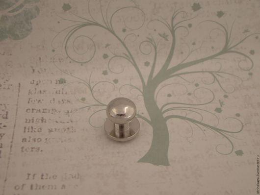 Другие виды рукоделия ручной работы. Ярмарка Мастеров - ручная работа. Купить Кабурная кнопка 810 никель. Handmade. металл
