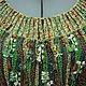 """Платья ручной работы. Ярмарка Мастеров - ручная работа. Купить Платье """"Лесная сказка"""". Handmade. Зеленый, осень-зима, вискоза"""