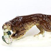 Винтаж handmade. Livemaster - original item Antique Large Hunting Dog Figure Royal Dux. Handmade.
