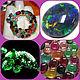 tamara pendant, opal black fire tourmaline emerald silver, Pendant, Moscow,  Фото №1