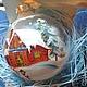 """Новый год 2017 ручной работы. """"Домик с елкой"""". Анна. Интернет-магазин Ярмарка Мастеров. Новогодний сувенир, елочное украшение, зима"""