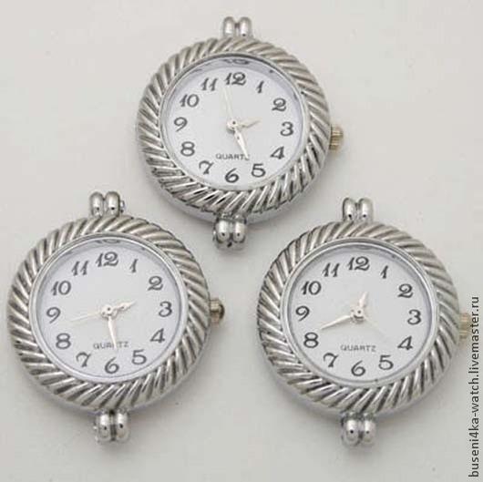 Для украшений ручной работы. Ярмарка Мастеров - ручная работа. Купить Основа для часов Косичка белая, платина (1шт). Handmade.