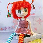 Мягкие игрушки ручной работы. Ярмарка Мастеров - ручная работа Вязаная игрушка кукла Пеппи ДлинныйЧулок. Handmade.