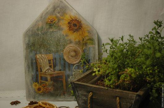 """Прихожая ручной работы. Ярмарка Мастеров - ручная работа. Купить Ключница """"В летнем саду"""". Handmade. Серый, для интерьера"""