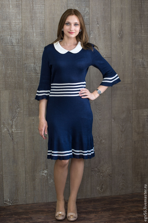 Платья ручной работы. Ярмарка Мастеров - ручная работа. Купить платье морской бриз. Handmade. Синий, платье ручной работы