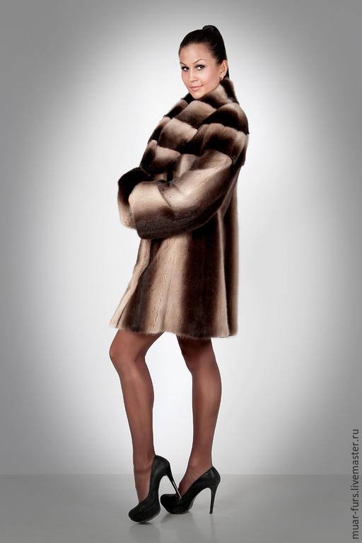 Верхняя одежда ручной работы. Ярмарка Мастеров - ручная работа. Купить Шуба Норка Деграде. Handmade. Норка, норковая шуба