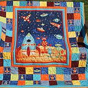 Для дома и интерьера ручной работы. Ярмарка Мастеров - ручная работа Детское лоскутное одеяло Вселенная 2. Handmade.