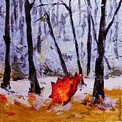 Картины и панно ручной работы. Ярмарка Мастеров - ручная работа Последние листья. Handmade.